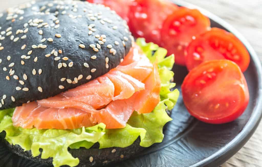 Sandwich integral de salmón