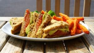 sandwiches de salmon