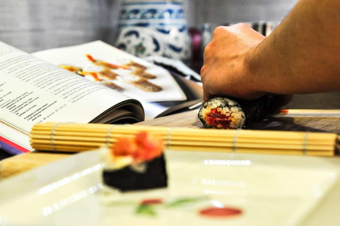 utensillos para sushi