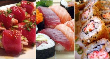 Sushi salmón ahumado