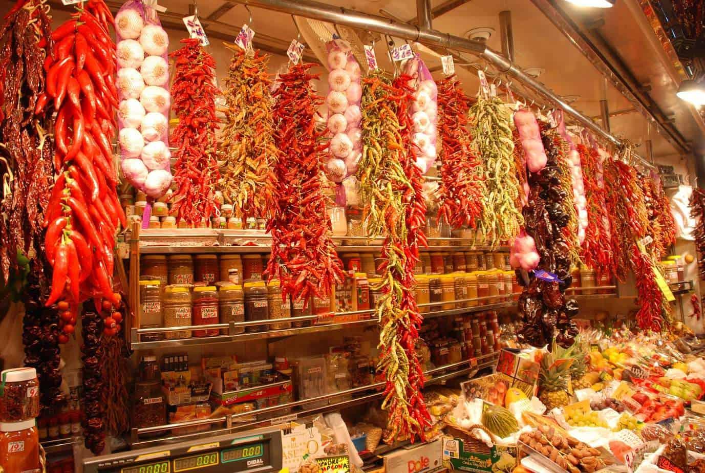 Mercado gastronómico de Barcelona