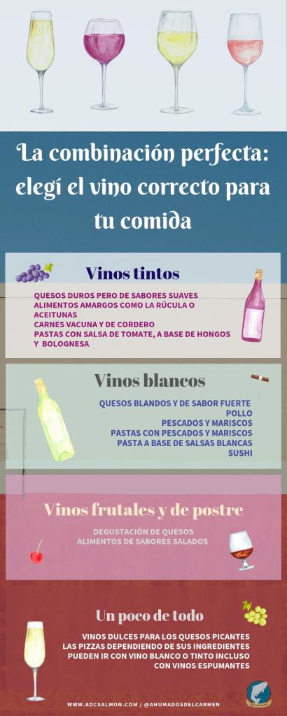combinación vino y comida