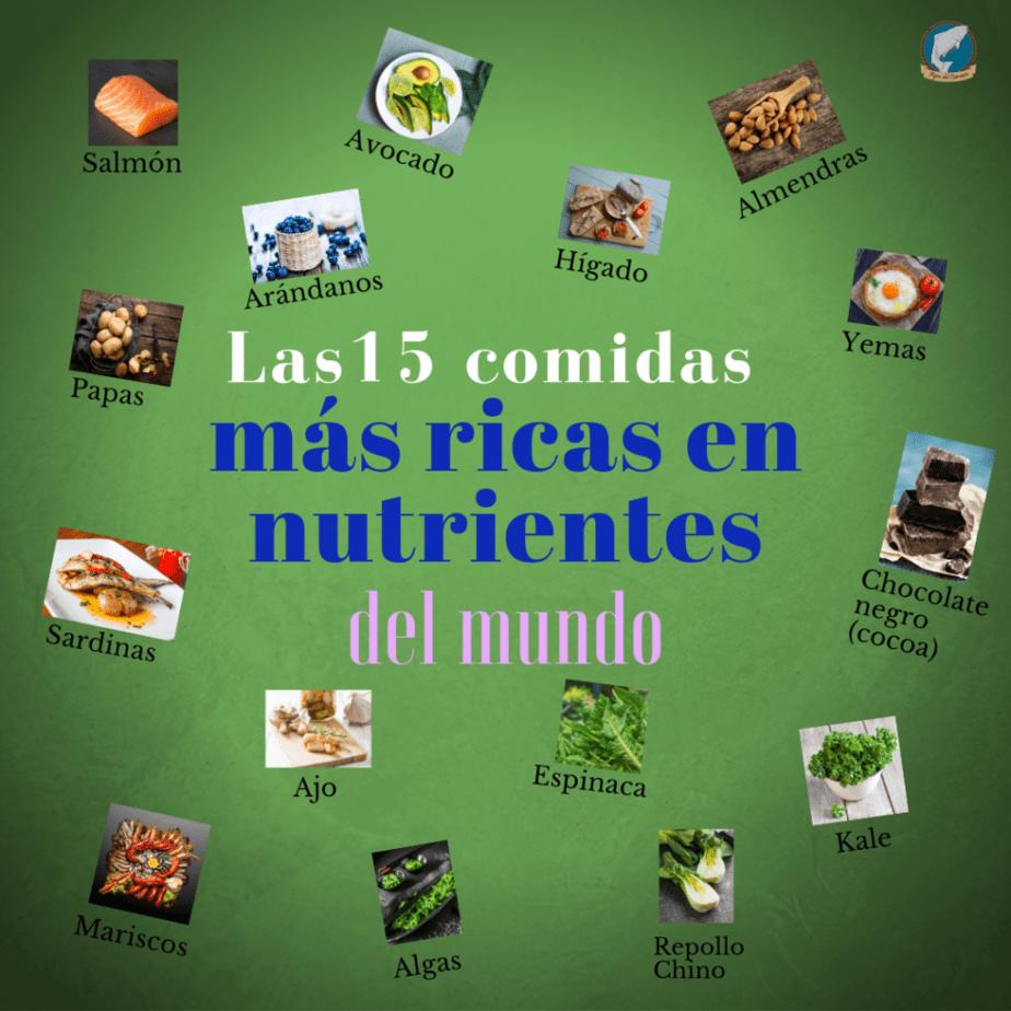 Comidas más ricas en nutrientes