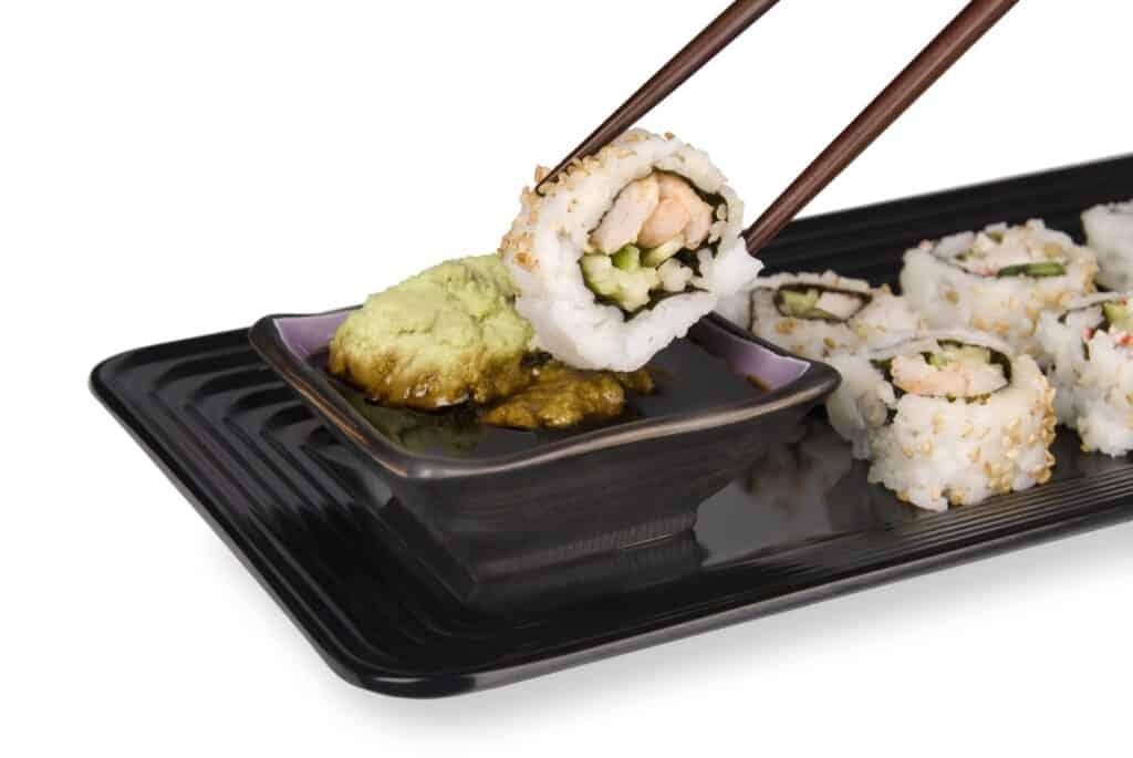 salsa teriyaki sushi roll