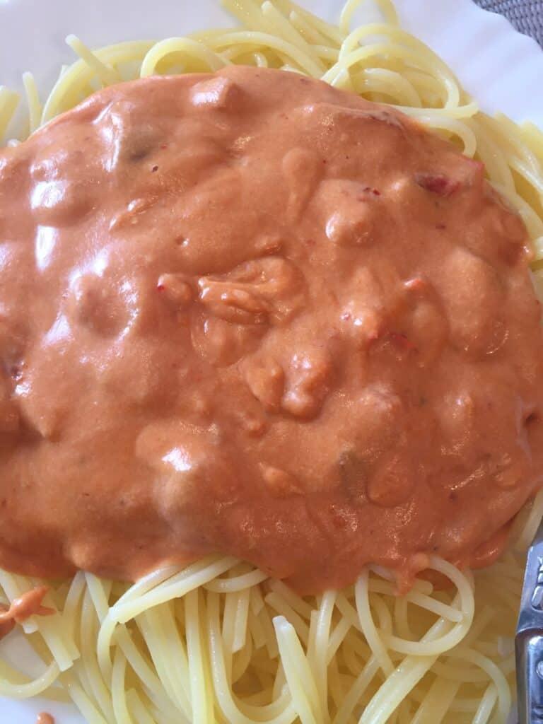 spaghettis receta sin gluten